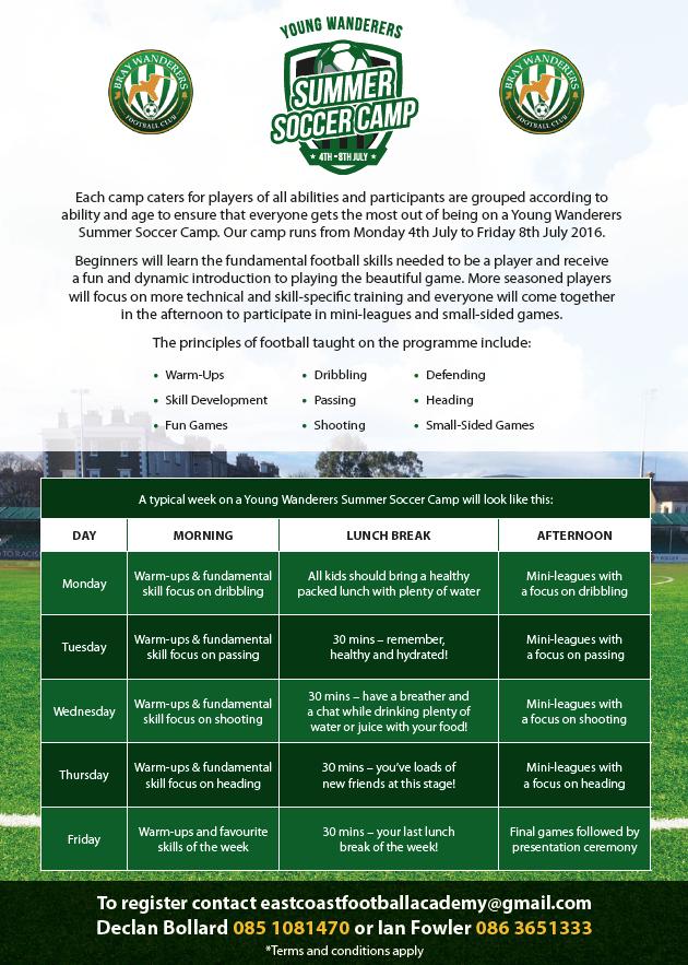 Bray Wanderers Launch Summer Soccer Camp Brayie