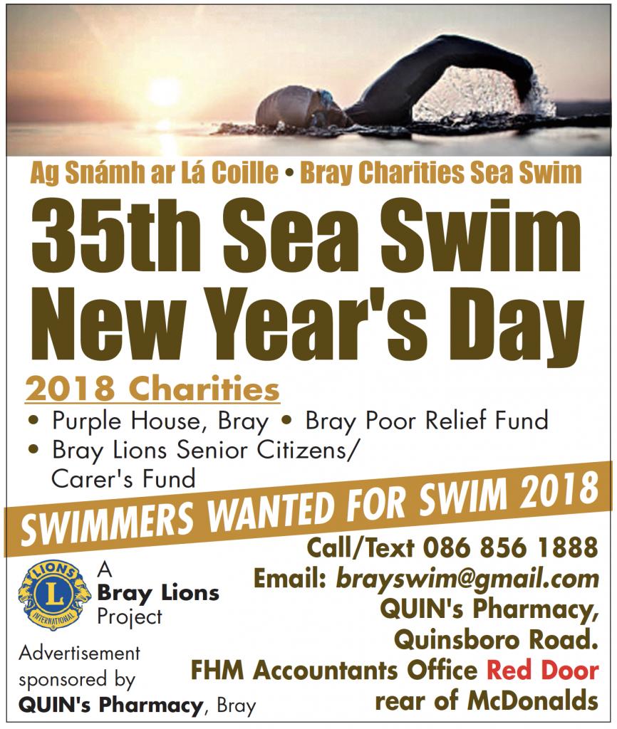 Bray Charities Sea Swim - Monday January 1st 2018 – bray.ie